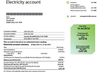 Read your EnergyAustralia Bill to compare prices